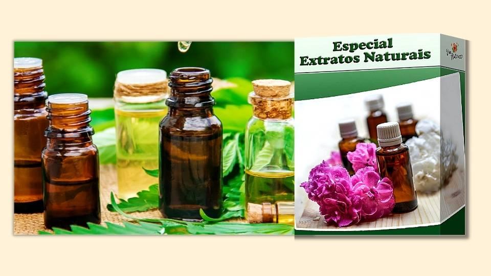 Vidros com óleos e extratos